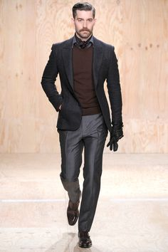 Berluti Fall 2014 Menswear Collection. We approve of the jumper and cravat!