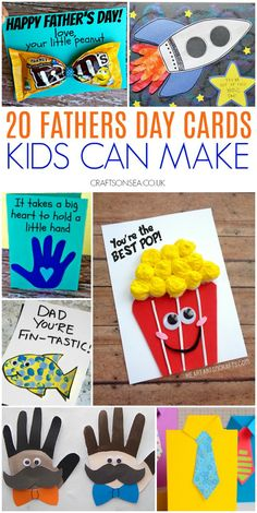 Cute and easy Fathers Day cards kids can make perfect fathers day gift, kids fathers day, dad birthday gift from Kids Fathers Day Crafts, Fathers Day Art, Happy Fathers Day, Homemade Birthday Cards, Kids Birthday Cards, Birthday Crafts, Homemade Fathers Day Gifts, Dad Gifts, Diy For Kids