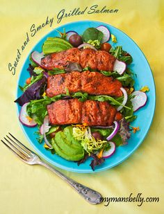 Sweet and Smoky Grilled Salmon #salmon #grilling