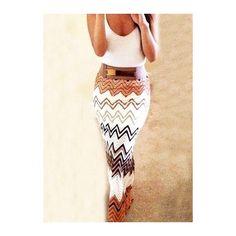 Rotita High Waist Chevron Print Maxi Skirt ($21) ❤ liked on Polyvore featuring skirts, white, boho skirt, white maxi skirt, white high waisted skirt, boho maxi skirt and high-waisted skirts
