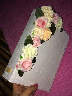 My handmade Flower Photobook Hobby Roses Pink White Photo Wedding Handmade Flowers, Photo Book, Pink White, Roses, Cake, Wedding, Food, Valentines Day Weddings, Pink