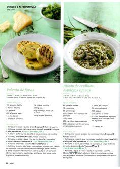 Revista Bimby - Abril 2015 Polenta, Mashed Potatoes, Diet, Vegan, Ethnic Recipes, Food, Mushy Peas, Cloves Of Garlic, Risotto