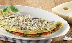 Low carb Rezepte: Omelette mit Tomaten, Käse und Basilikum