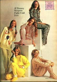 jc penney footed pajamas