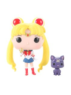 Funko Sailor Moon Pop! Animation Sailor Moon With Moon Stick & Luna Vinyl Figure Hot Topic Exclusive,