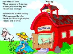 coloring book page Mary Had a Little Lamb ~Sonlight Core B week 2 Nursery Rhyme Crafts, Nursery Rhymes, Rhyming Activities, Educational Activities, Back To School Crafts For Kids, Lamb Craft, Lamb Nursery, Kids Laughing, Arctic Animals