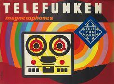 Telefunken magnétophones - 1965 - illustration : Jacques Nathan-Garamond -