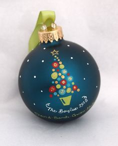 Festive Baubles Family Christmas Tree  Personalized by SarEi, $26.00