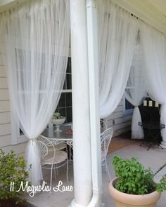 DIY Screened Porch (When You Don't Have a Screened Porch!)