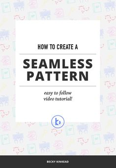 Super easy to follow! Learn how to design a beautiful, seamless pattern that will take your designs to the next level. Click for the tutorial or pin and save for later!
