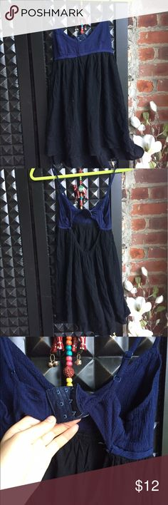 Navy and black mini dress Navy and black mini dress, back has a cute cut out - straps are adjustable. Urban Outfitters Dresses Mini