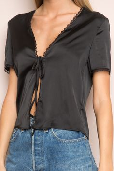 Brandy ♥ Melville | Nadina Silky Top - Silk & Velvet Pieces - Clothing