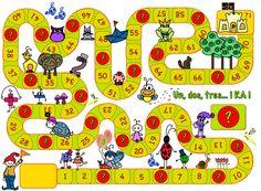 Experiencias educativas con Realidad Aumentada (I): Infantil y Primaria Puzzle Board Games, Preschool Board Games, Spelling Activities, Classroom Games, Activity Games, Math Games, Preschool Activities, Board Game Template, Printable Board Games