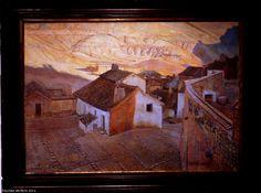 "Museo de La Rioja ""Paisaje"",  De Juan Ángel Gómez Alarcón.  Museum of La Rioja ""Landscape"", probabl title by Juan Angel Gómez Alarcón Logroño, Spain"
