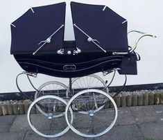 VINTAGE SILVERCROSS WILSON COACHBUILT/CARRIAGE TWIN PRAM | eBay