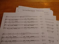 Music: The Lion King Musical a capella arrangement...
