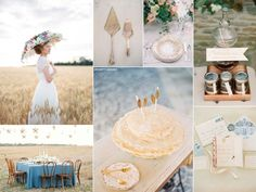 Vintage Prairie Wedding -- or, better yet, inspiration for my next Anne of Green Gables party? :)