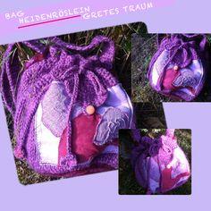 Rucksäcke - TASCHE, BEUTEL, HEIDENRÖSLEIN,lila,rosa,pink,retro - ein Designerstück von GretesTraum bei DaWanda