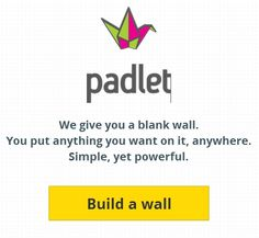 Padlet: Creates a Wall Where You and Others Can Share Messages, Links, and Files - Padlet is an Internet application that allows people to express their thoughts on a common topic easily. It works like an online sheet of paper where people can put any content (e.g. images, videos, documents, text) anywhere on the page, together with anyone, from any device. http://padlet.com/