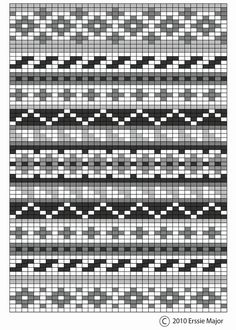 fair isle pattern – beautiful as an embroidery pattern too.
