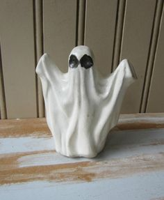 White Ghost Figurine with Raised Arms by VintageSouthernPicks