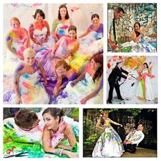 """""""Trash the Dress"""" Paint. I want to be brave enough for this!!"""