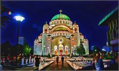 The Temple of Saint Sava in Belgrade, Serbia,is a Serbian - Orthodox church, the largest in the Balkans, and one of the 10 largest church buildings in the world.
