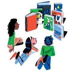 Notable Children's books of 2015 - Illustration/Gif for the NYTimes Book Review- Holiday Books special.  Great AD by Matt Doorman.  http://www.nytimes.com/2015/12/06/books/review/notable-childrens-books-of-2015.html?ref=books