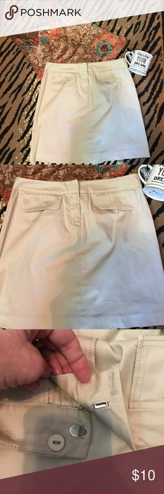 Tan skirt View tan skirt NWOT. Super cute. Not lined. View Skirts