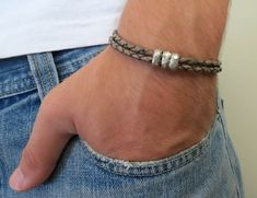 Jim Brown Men's Bracelet Men Beaded Bracelet Men by Galismens