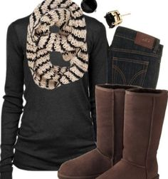Winter outfit! LOVE THAT SCARF
