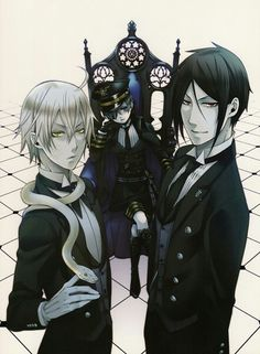 Snake, Sebastian Michaelis and Ciel Phantomhive - Kuroshitsuji