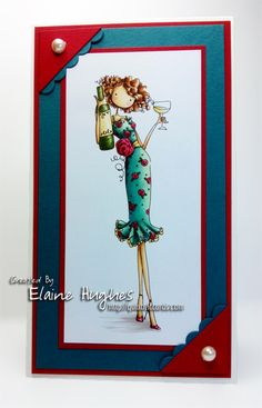 May Your Glass Always Be Half Full by Quixotic - Cards and Paper Crafts at Splitcoaststampers Craftwork Cards, Scrapbook Cards, Scrapbooking, Beautiful Handmade Cards, Copics, Journal Cards, Thing 1, Homemade Cards, Paper Dolls