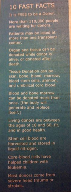 """Organ donor """"fast facts"""""""