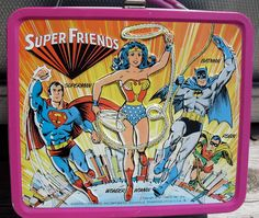 1976 Female Centered Super Friends Lunch Box No by BetheAbsurd, $69.95- *by Jo~I had this box and it would always open up as I got on the bus!!