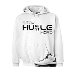 Jordan 2 Wing It White Hoodie (Hustle Hard)