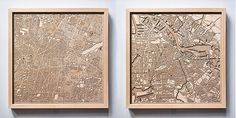 CityWood Wooden Map of Mexico City and Amsterdam CityWood - Minimal 3D Wooden Maps by Hubert Roguski - Kickstarter – Framed Wood Map Laser Cut Gift   http://thecitywood.com    Best gifts ideas wall art New York San Francisco London Paris Boston Chicago Wedding Engagement Housewarming Decor minimal minimalist Barcelona NYC birthday street anniversary groomsmen bathroom unique engraved modern men parents bridesmaid graduation chart
