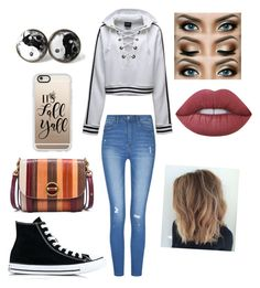 """""""Untitled #1036"""" by glamor234 on Polyvore featuring Converse, Tory Burch, Casetify and Lime Crime"""