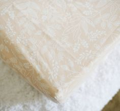 Queen Anne Peach Changing Pad Cover