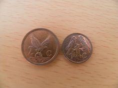 2 Coins South Africa 1 Cent and 2 Cent Out of Circulation | eBay