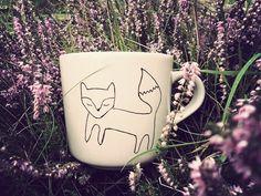 Mr Teacup's hand drawn fox mug