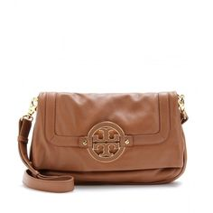 Tory Burch Amanda Fold-Over Messenger Bag ($360) ❤ liked on Polyvore