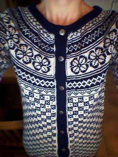 Bøvertun cardigan Fair Isle Knitting, Color Patterns, Knits, Fire, Traditional, Sweaters, Inspiration, Clothes, Fashion