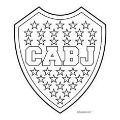 Dibujo de un Escudo del F.C. Barcelona para pintar
