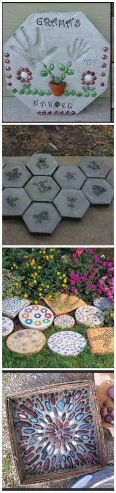 How to Make a Hexagon Stepping Stone