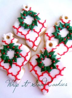 Decorated Christmas cookies ornaments ToniKami ℬe Meℜℜy