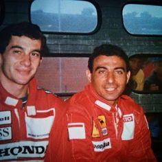 Ayrton Senna: Banco de Fotos /Senna era piloto da McLaren e Alboreto corria pela Ferrari