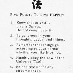 5 points to live HAPPY  _____________ [#m_eye_nd]  [#wizdomly]  [#FreeYourMeyeND] [#quotes]  [#inspiration]  [#HigherAwakening]  [#PLUR]  [#india]  [#instagood]  [#instadaily]  [#freeyourmind]  [#1ove]
