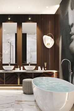 30 Glamorous Bathroom Design Ideas You Never Seen Before – Homely Bathroom Lighting Design, Bathroom Design Luxury, Luxury Bathrooms, Modern Luxury Bathroom, Luxury Hotel Bathroom, Hotel Bathrooms, Minimalist Bathroom, Dream Bathrooms, Glamorous Bathroom