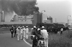 Fotocollectie » Brand bij Marbon, chemisch bedrijf, westelijk havengebied Amsterdam, overzicht | gahetNA